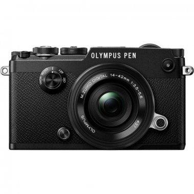 Цифровой фотоаппарат OLYMPUS PEN-F Pancake Zoom 14-42 Kit black/black (V204061BE000)