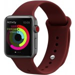 Ремешок UWatch Silicone Strap for Apple Watch 42/44 mm Wine Red