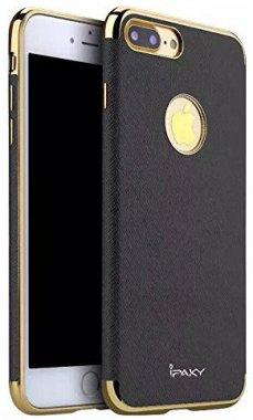Чехол-накладка Ipaky Chrome connector + Leather Back case iPhone 7 Plus Black/Gold