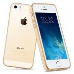 Чехол-накладка HOCO TPU case Light series iPhone 5/5s/SE Gold