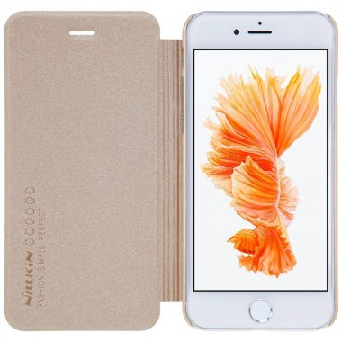 Чехол-книжка Nillkin Sparkle case iPhone 7 Gold