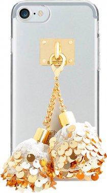 Чехол-накладка DDPOP Spangle Ball case iPhone 7 White/Gold