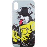 Чехол-накладка PUZOO TPU Glossy Surface IMD Hip Hop iPhone X RAP Alaskan Grey