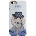Чехол-накладка PUZOO TPU Glossy Shiny Powder Art dog iPhone 7/8 White Ravan