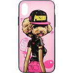 Чехол-накладка PUZOO TPU Glossy Surface IMD Hip Hop iPhone X DJ Teddy Pink