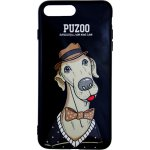 Чехол-накладка PUZOO TPU Glossy Shiny Powder Art dog iPhone 7 Plus/8 Plus Black Bean