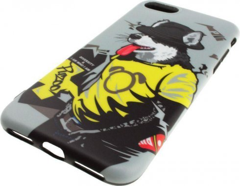 Чехол-накладка PUZOO TPU Glossy Surface IMD Hip Hop iPhone 7/8 RAP Alaskan Grey