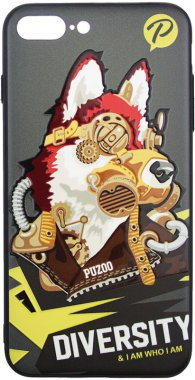 Чехол-накладка PUZOO TPU with UV Printing Punk Phone iPhone 7 Plus/8 Plus Black