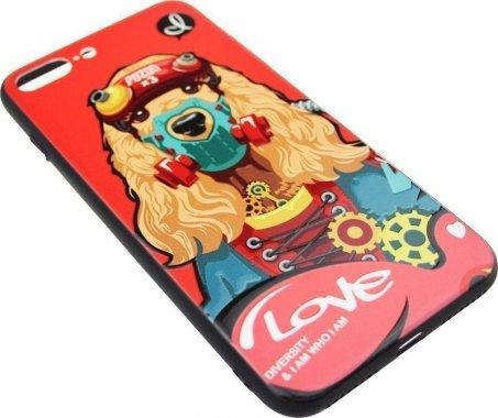 Чехол-накладка PUZOO TPU with UV Printing Punk Phone iPhone 7 Plus/8 Plus Red