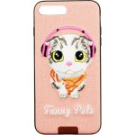 Чехол-накладка Remax Funny Pets Series Case Apple iPhone 7 Plus/8 Plus Pink