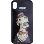 Чехол-накладка PUZOO TPU Glossy Shiny Powder Art dog iPhone X Black Bean