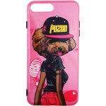 Чехол-накладка PUZOO TPU Glossy Surface IMD Hip Hop iPhone 7 Plus/8 Plus DJ Teddy Pink