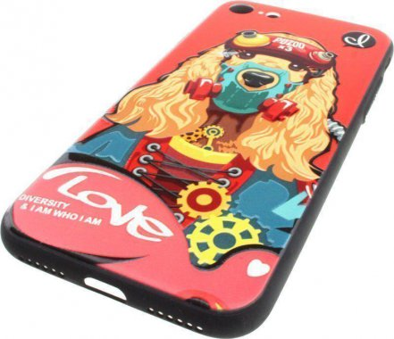 Чехол-накладка PUZOO TPU with UV Printing Punk Phone iPhone 7/8 Red