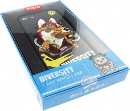 Чехол-накладка PUZOO TPU with UV Printing Punk Phone iPhone 7/8 Black