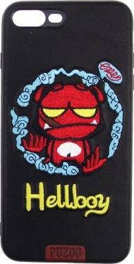 Чехол-накладка PUZOO TPU+TPU with stitchwork craft Star show iPhone 7 Plus/8 Plus Black Hellboy