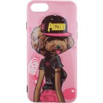 Чехол-накладка PUZOO TPU Glossy Surface IMD Hip Hop iPhone 7/8 DJ Teddy Pink