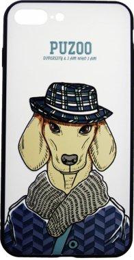 Чехол-накладка PUZOO Artdog Phone  iPhone 7 Plus/8 Plus White Ravan