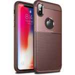 Чехол-накладка Ipaky Elegant Grid Design TPU Hybrid Case Apple iPhone X Brown