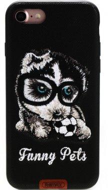 Чехол-накладка Remax Funny Pets Series Case Apple iPhone 7 Black