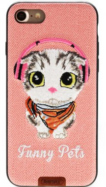 Чехол-накладка Remax Funny Pets Series Case Apple iPhone 7 Pink