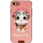 Чехол-накладка Remax Funny Pets Series Case Apple iPhone 7 Pink