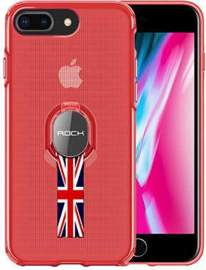 Чехол-накладка Rock TPU+PC MOC Pro Series Protection Case Apple iPhone 8 Plus Trans-Red