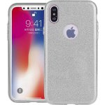 Чехол-накладка TOTO TPU Case Rose series 3 IN 1 iPhone X Silver