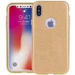 Чехол-накладка TOTO TPU Case Rose series 3 IN 1 iPhone X Gold