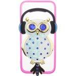 Чехол-накладка TOTO TPU Stones Case IPhone 5/5S/SE Owl in Headphones Blue