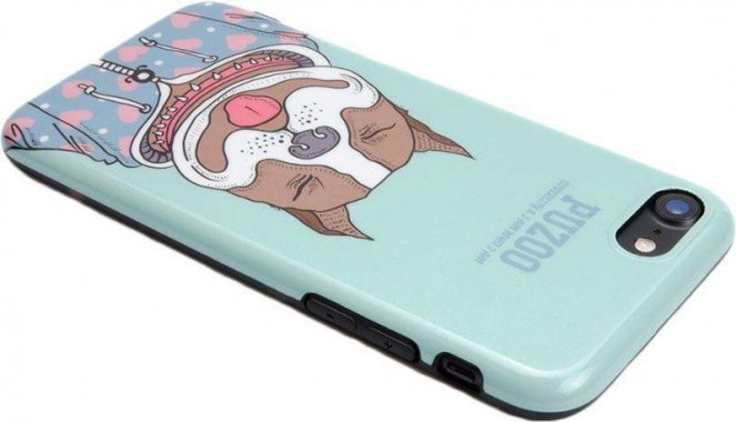 Чехол-накладка PUZOO TPU Glossy Shiny Powder Art dog iPhone 7/8 Green Baby