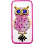 Чехол-накладка TOTO TPU Case Decorative Stones IPhone 5/5S/SE Owl Pink