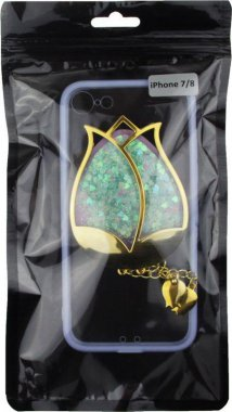 Чехол-накладка TOTO TPU Case Decorative Stones IPhone 7/8 Rose Flower Purple
