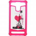 "Чехол-накладка TOTO Universal TPU case with image 4,5"" Eiffel Tower Pink"
