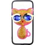 Чехол-накладка TOTO TPU Case Decorative Stones IPhone 5/5S/SE Cat Pink