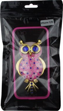 Чехол-накладка TOTO TPU Case Decorative Stones IPhone 7/8 Owl Pink