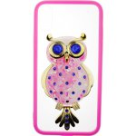 Чехол-накладка TOTO TPU Case Decorative Stones IPhone X Owl Pink