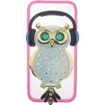 Чехол-накладка TOTO TPU Stones Case IPhone 5/5S/SE Owl in Headphones Green