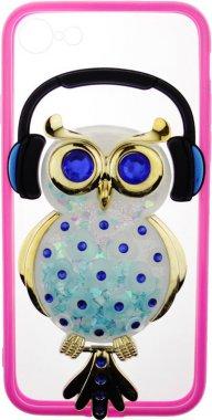 Чехол-накладка TOTO TPU Stones Case IPhone 7/8 Owl in Headphones Blue