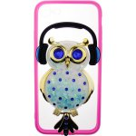 Чехол-накладка TOTO TPU Stones Case IPhone 7/8 Owl in Headphones Blue