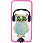 Чехол-накладка TOTO TPU Stones Case IPhone X Owl in Headphones Green