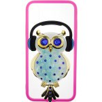 Чехол-накладка TOTO TPU Stones Case IPhone X Owl in Headphones Blue
