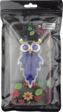 Чехол-накладка TOTO TPU Case Decorative Stones IPhone 7 Plus/8 Plus Owls Purple