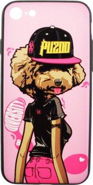 Чехол-накладка PUZOO TPU Case with UV Printing Hip Hop iPhone 7/8 DJ Teddy Pink
