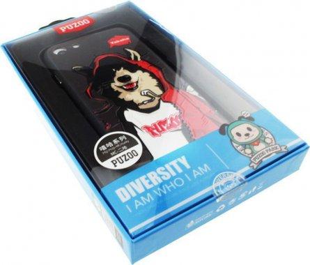 Чехол-накладка PUZOO TPU Case with UV Printing Hip Hop iPhone 7/8 MC Husky Black