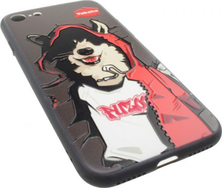 Чехол-накладка PUZOO TPU Case with UV Printing Hip Hop iPhone 7/8 MC Husky Black