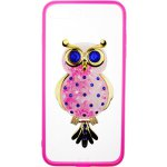 Чехол-накладка TOTO TPU Case Decorative Stones IPhone 7 Plus/8 Plus Owl Pink