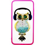Чехол-накладка TOTO TPU Stones Case IPhone 7 Plus /8 Plus Owl in Headphones Green