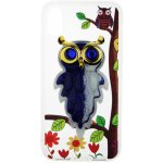 Чехол-накладка TOTO TPU Case Decorative Stones IPhone X Owls Purple
