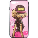 Чехол-накладка PUZOO TPU Case with UV Printing Hip Hop iPhone 7 Plus /8 Plus DJ Teddy Pink