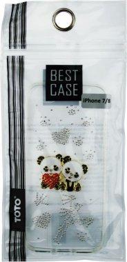Чехол-накладка TOTO TPU case with stones iPhone 7/8 Panda Transparent